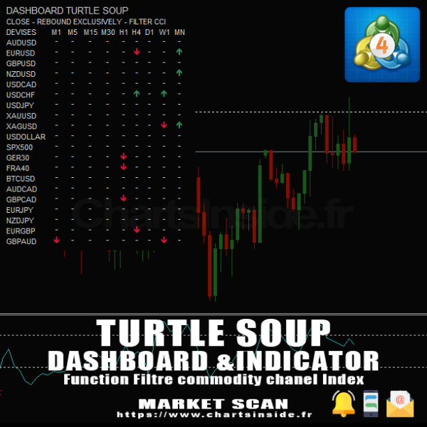 TurtleSoup,Turtle Soup,DashBoard,MetaTrader4,MT4,Scanner de marché,Market Scanner,Screener,William Eckhardt,Richard Dennis